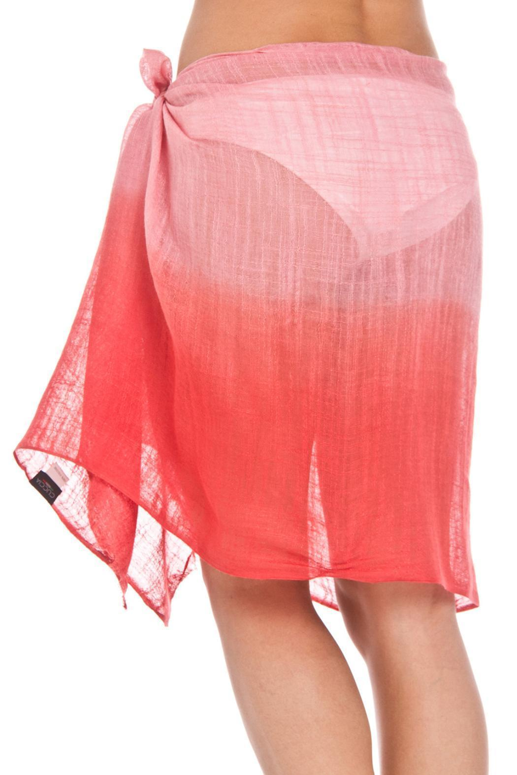 Violet Del Mar Ombre Red Cover-Up - Back Cropped Image