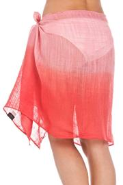 Violet Del Mar Ombre Red Cover-Up - Back cropped