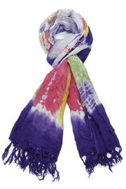 Violet Del Mar Colorful Tie Dye Scarf - Product Mini Image