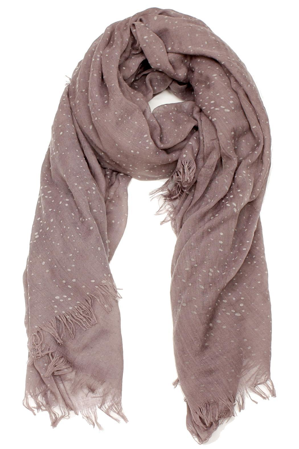 Violet Del Mar Cotton Scarf - Front Cropped Image