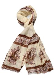 Violet Del Mar Cream Vintage Scarf - Product Mini Image