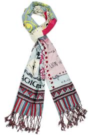 Violet Del Mar Printed Scarf - Front cropped