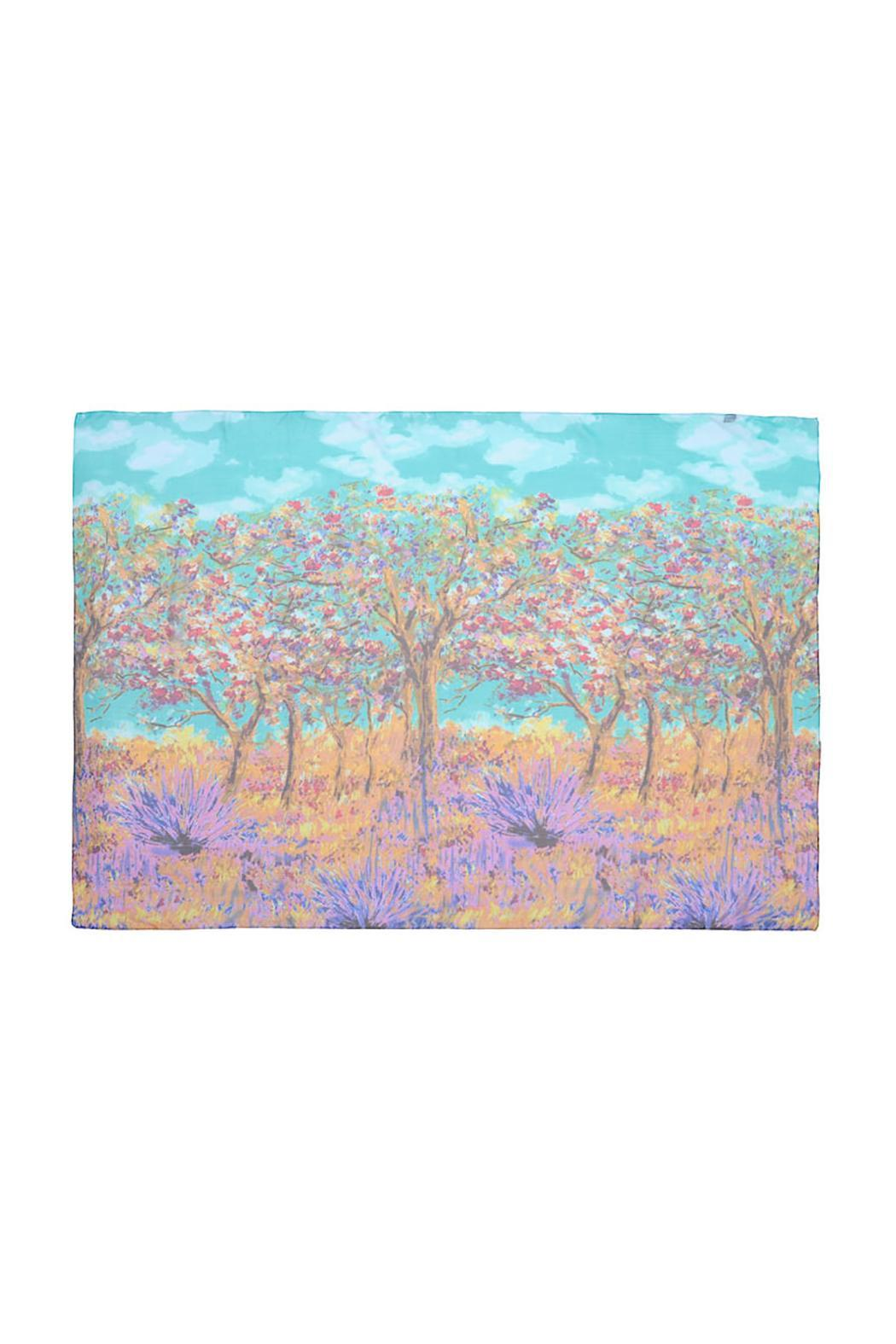 Violet Del Mar Digital Monet Scarf - Front Full Image