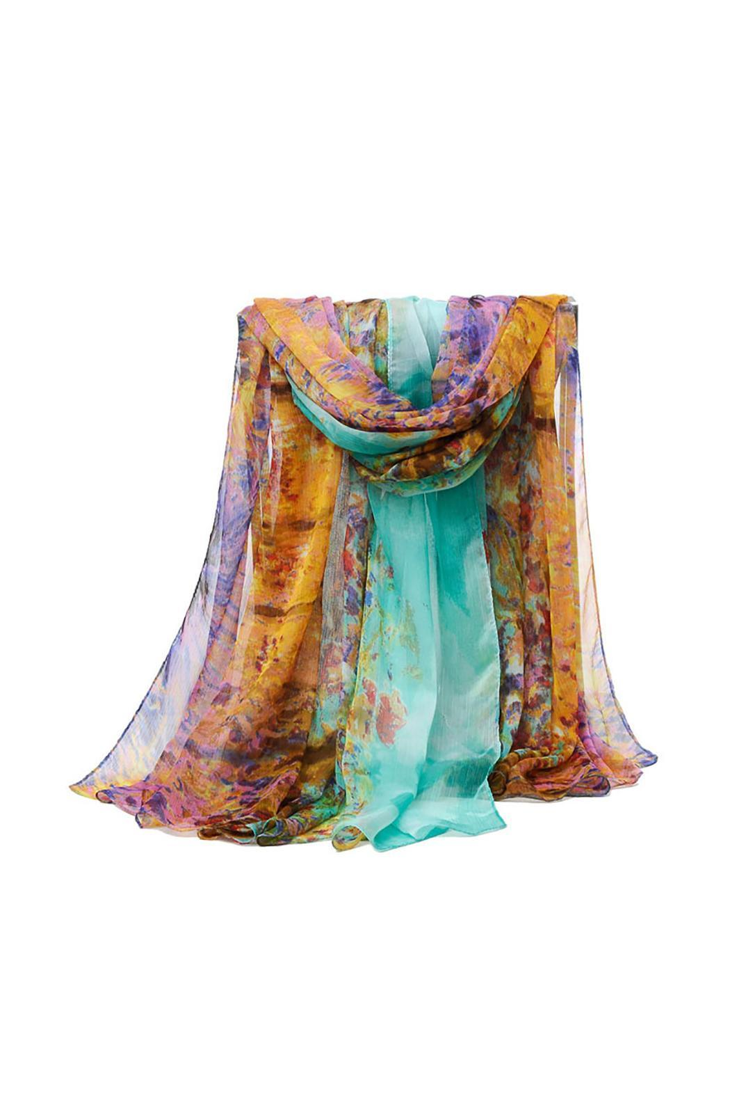 Violet Del Mar Digital Monet Scarf - Side Cropped Image