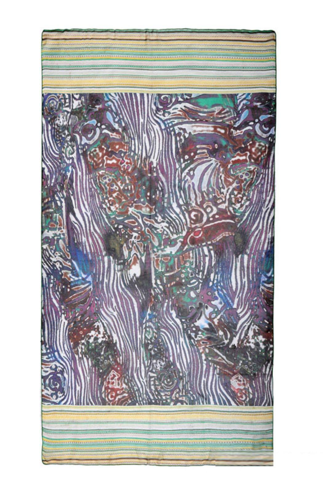 Violet Del Mar Digital Print Scarf - Side Cropped Image