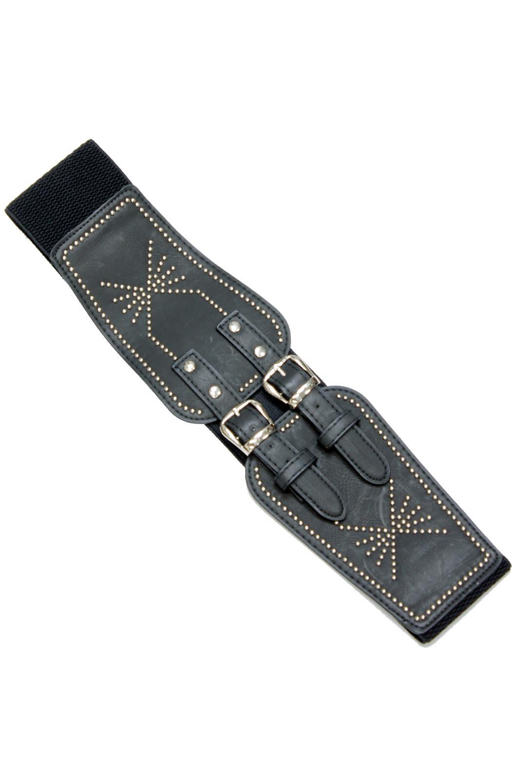 Violet Del Mar Double-Chain Stretch Belt - Front Cropped Image