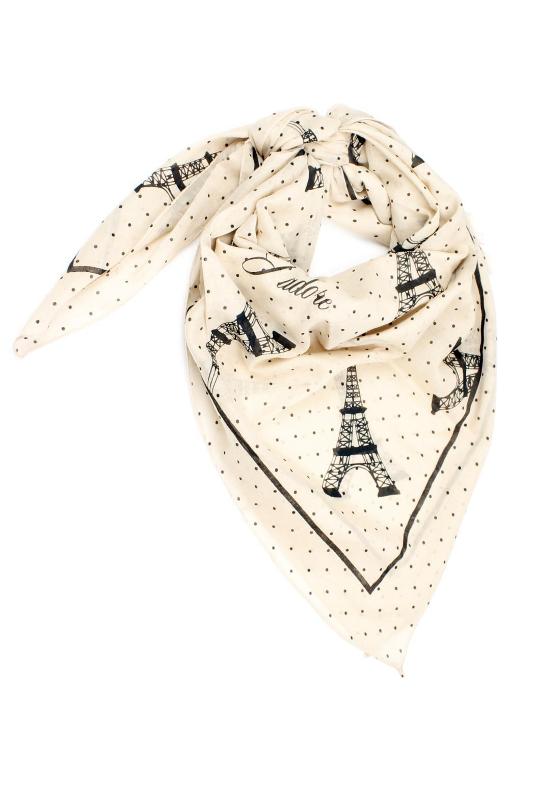 Violet Del Mar Eiffel Tower Scarf - Front Cropped Image