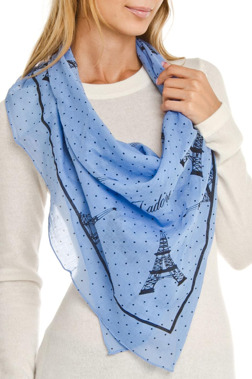 Violet Del Mar Eiffel Tower Scarf - Front Full Image