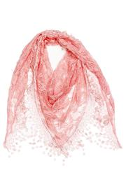 Violet Del Mar Embroidered Rose Scarf - Product Mini Image