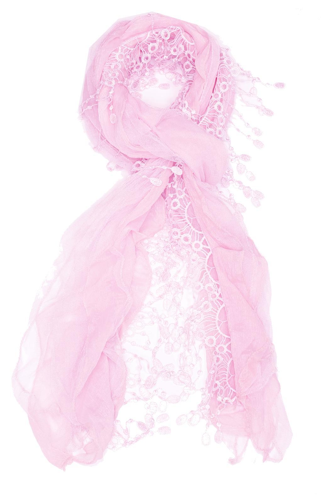 Violet Del Mar Embroidered Ruffle Scarf - Front Cropped Image