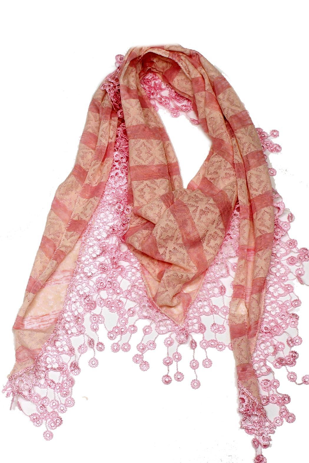 Violet Del Mar Embroidery Pink Scarf - Main Image