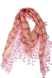 Violet Del Mar Embroidery Pink Scarf - Front full body