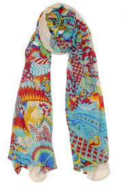 Violet Del Mar Floral Pattern Scarf - Product Mini Image