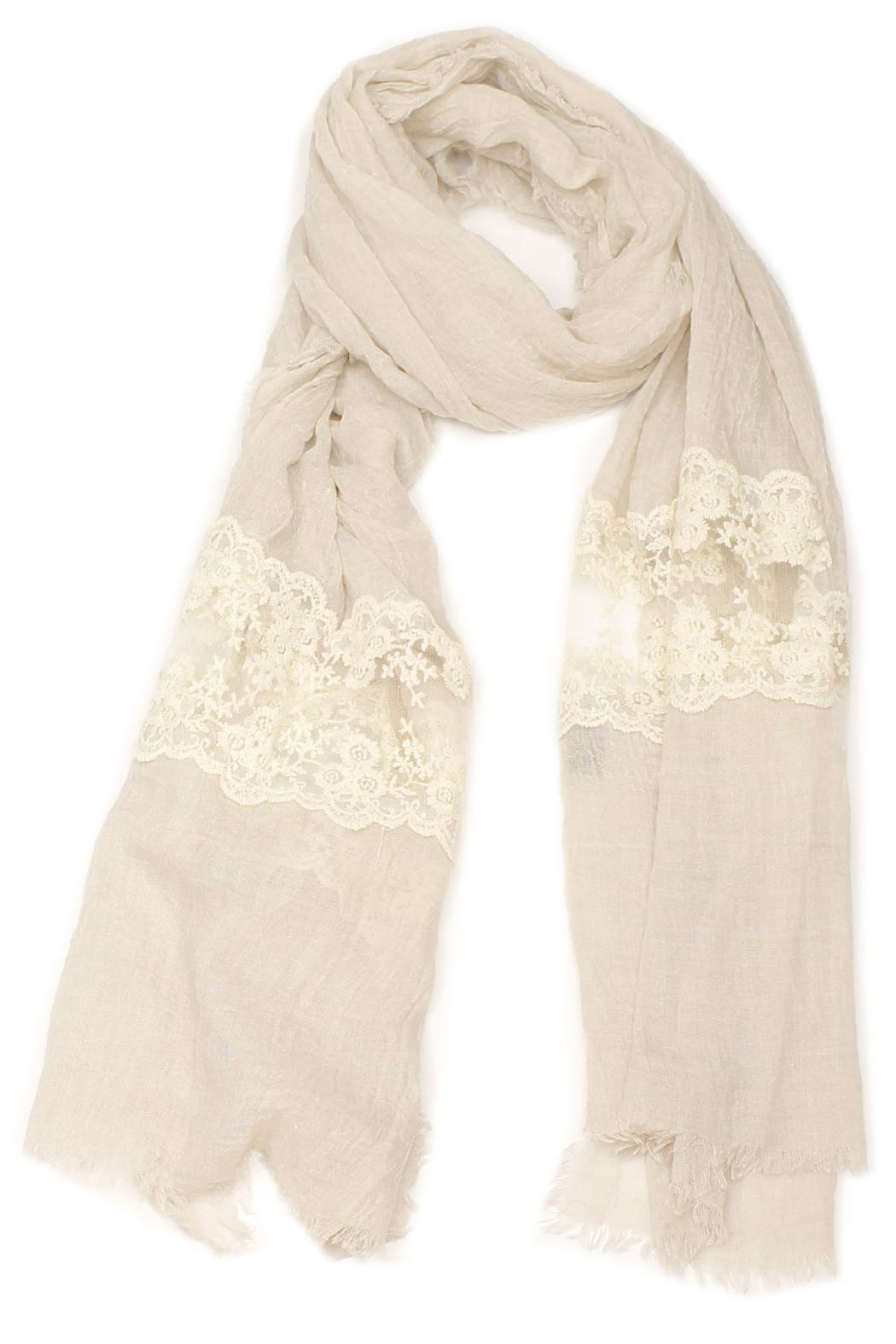 Violet Del Mar French Lace Scarf - Front Cropped Image