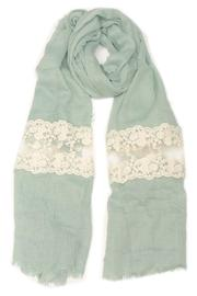Violet Del Mar French Lace Scarf - Front cropped