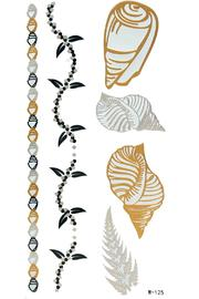 Violet Del Mar Gold-Silver Jewelry Tattoos - Product Mini Image
