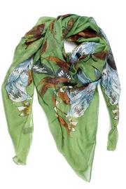Violet Del Mar Green Bird Scarf - Front cropped