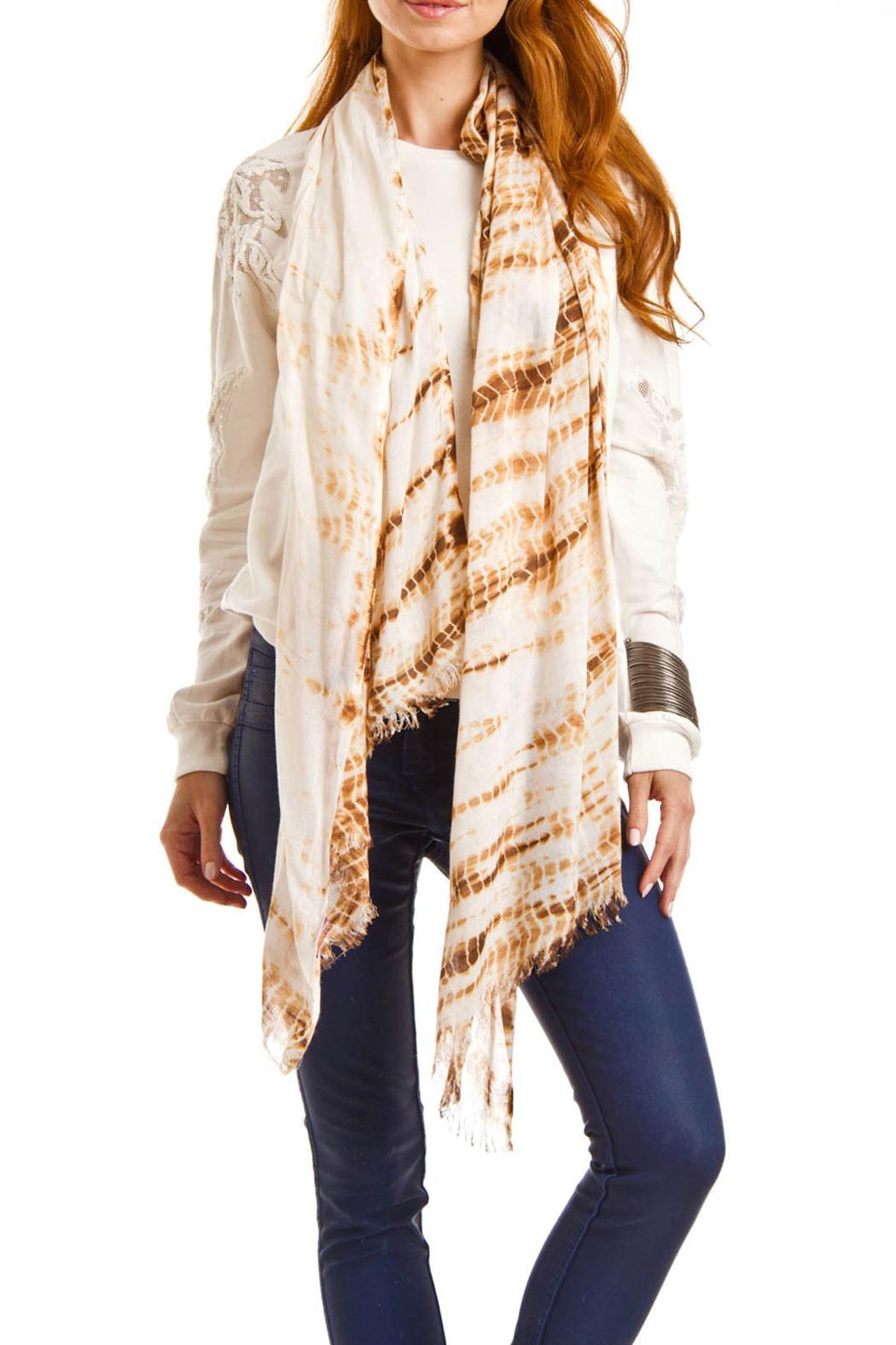 Violet Del Mar Hand Tie-Dye Scarf - Front Cropped Image