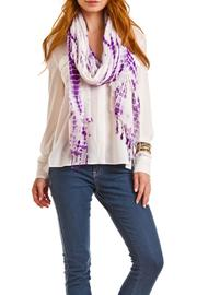 Violet Del Mar Hand Tie-Dye Scarf - Front full body