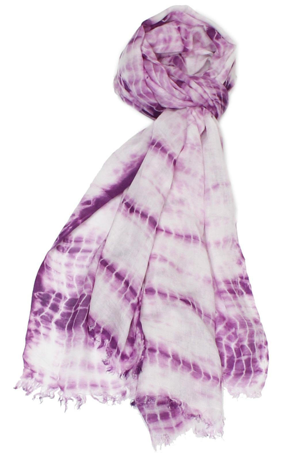 Violet Del Mar Hand Tie-Dye Scarf - Side Cropped Image