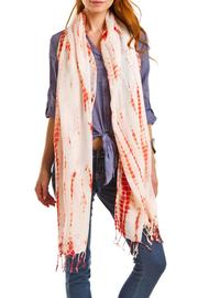 Violet Del Mar Hand Tie-Dye Scarf - Front cropped