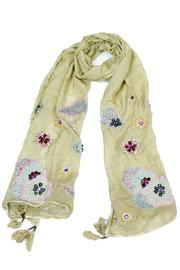 Violet Del Mar Handmade Beaded Scarf - Front cropped