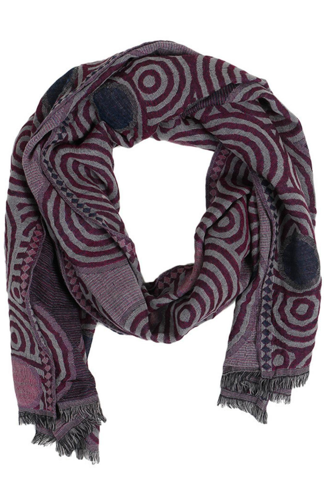 Violet Del Mar Handmade Wool Wrap - Front Cropped Image