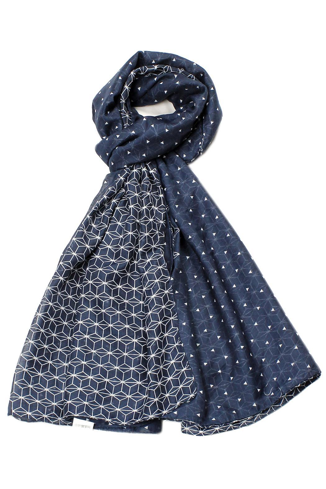 Violet Del Mar Honeycomb Navy Scarf - Main Image