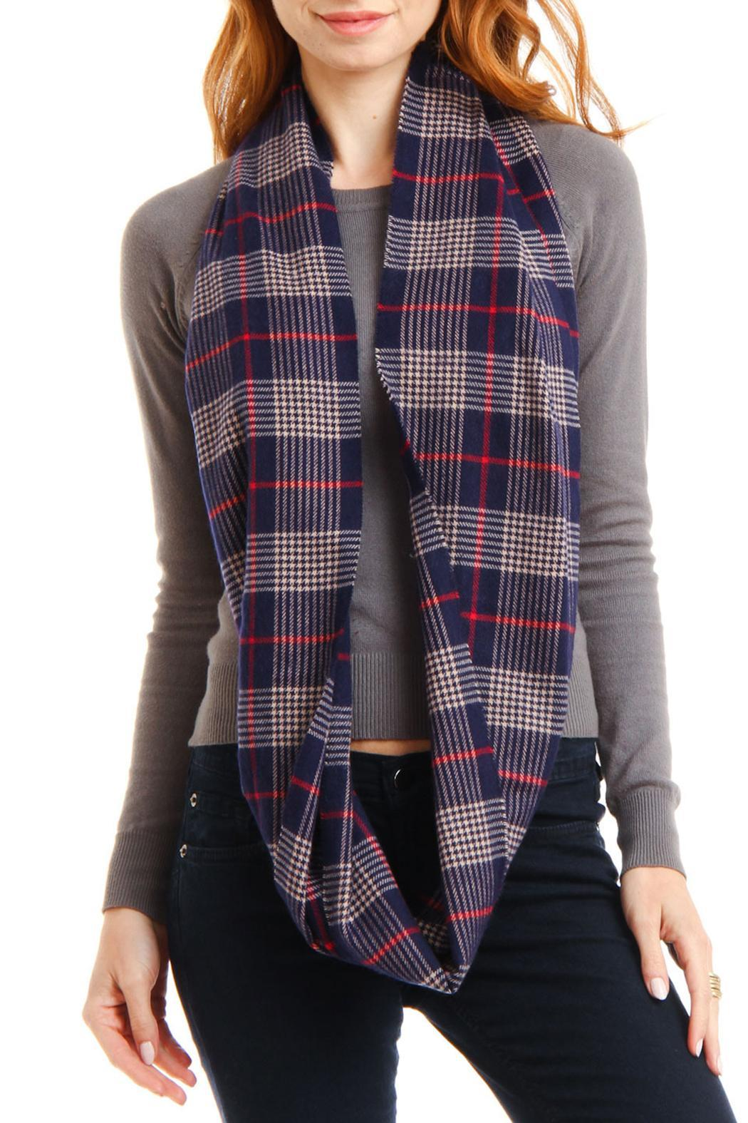 Violet Del Mar Infinity Cashmere Scarf - Side Cropped Image