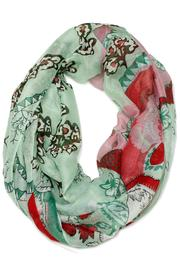 Violet Del Mar Infinity Flower Scarf - Front cropped