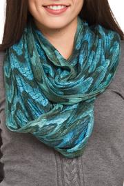 Violet Del Mar Infinity Green Scarf - Front cropped