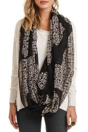 Violet Del Mar Infinity Letter Scarf - Front full body