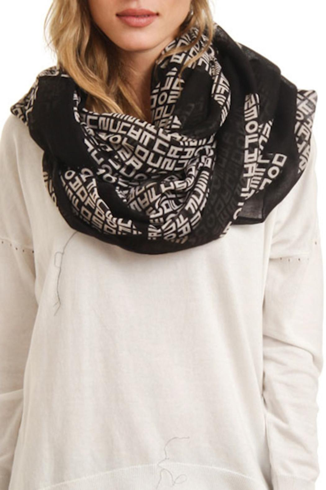 Violet Del Mar Infinity Letter Scarf - Front Cropped Image