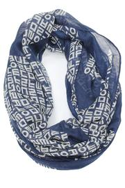 Violet Del Mar Infinity Letter Scarf - Front cropped