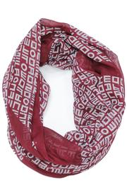 Violet Del Mar Infinity Letter Scarf - Product Mini Image