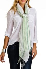 Violet Del Mar Italian Stripe Scarf - Front cropped