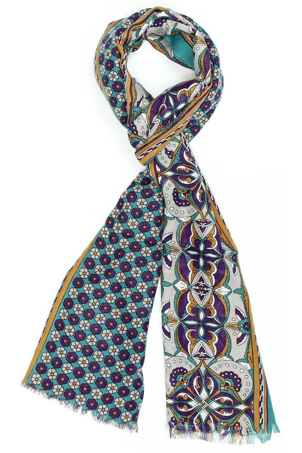 Violet Del Mar Italy Scarf - Front Cropped Image
