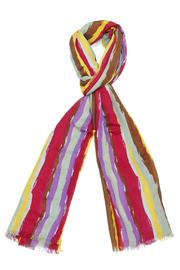 Violet Del Mar Italian Stripe Scarf - Front full body