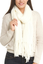 Violet Del Mar Knitted White Scarf - Product Mini Image
