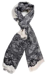 Violet Del Mar Lace Print Scarf - Front cropped