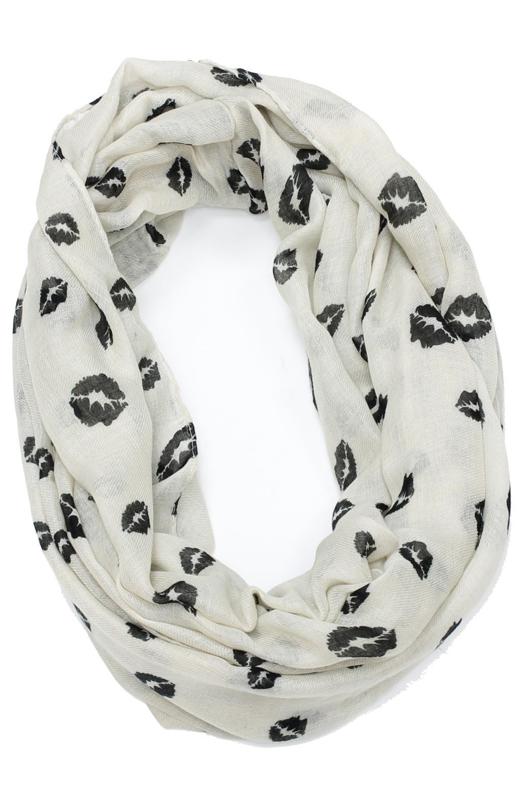 Violet Del Mar Lipstick Infinity Scarf - Front Cropped Image
