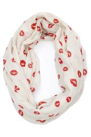 Violet Del Mar Lipstick Infinity Scarf - Front cropped
