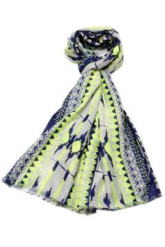Shoptiques Product: Navy Green Scarf