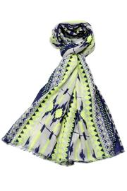 Violet Del Mar Navy Green Scarf - Product Mini Image