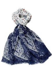 Violet Del Mar Navy Vintage Style Scarf - Product Mini Image