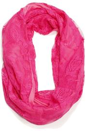 Violet Del Mar Neon Infinity Scarf - Front cropped