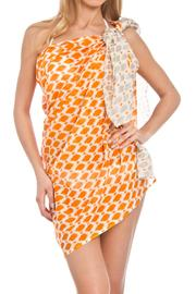 Violet Del Mar Orange Grey Cover-Up - Product Mini Image