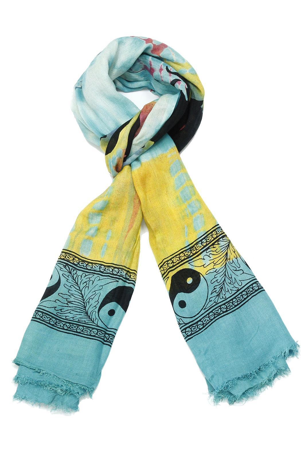 Violet Del Mar Tie-Dye Peace Scarf - Front Cropped Image