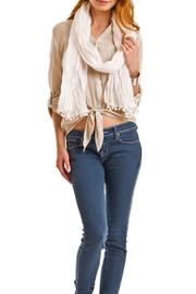 Violet Del Mar Poms Solid Scarf - Front full body