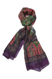 Violet Del Mar Pure Silk Paisley-Scarf - Front cropped